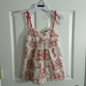 GAP baby red top dress size 6-7